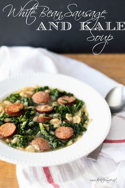 White Bean, Sausage, and Kale Soup Recipe