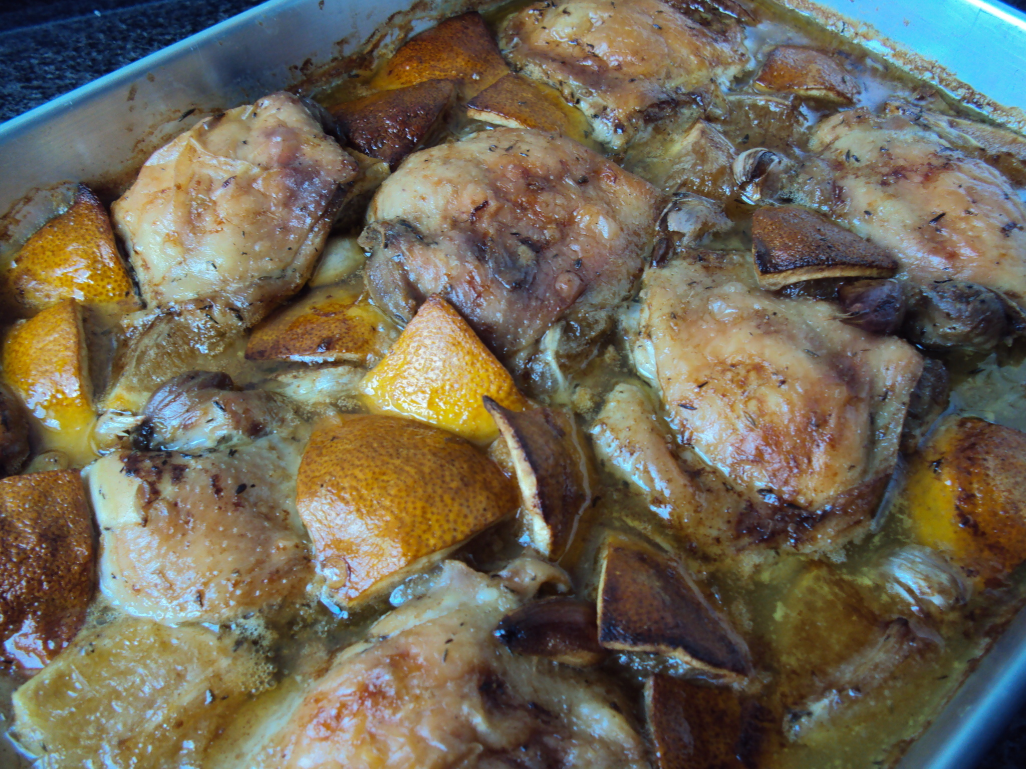 Oven Baked Chicken with Garlic and Lemon