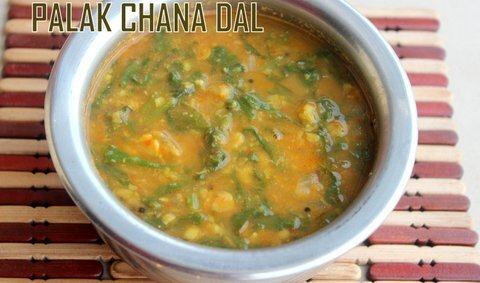 Palak chana dal recipe – How to make spinach chana dal – Dal recipes