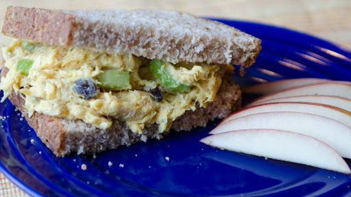 Curry Chicken Salad Sandwiches