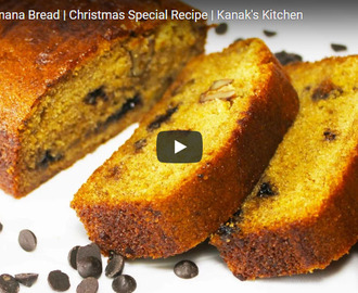 Eggless Banana Bread Recipe Video