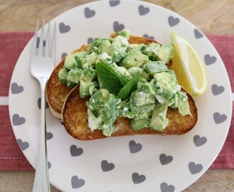 Smashed Avocado, Feta, Mint and Lemon on Ciabatta