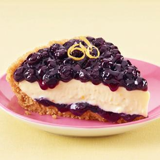 Lemony Blueberry Layered Pie