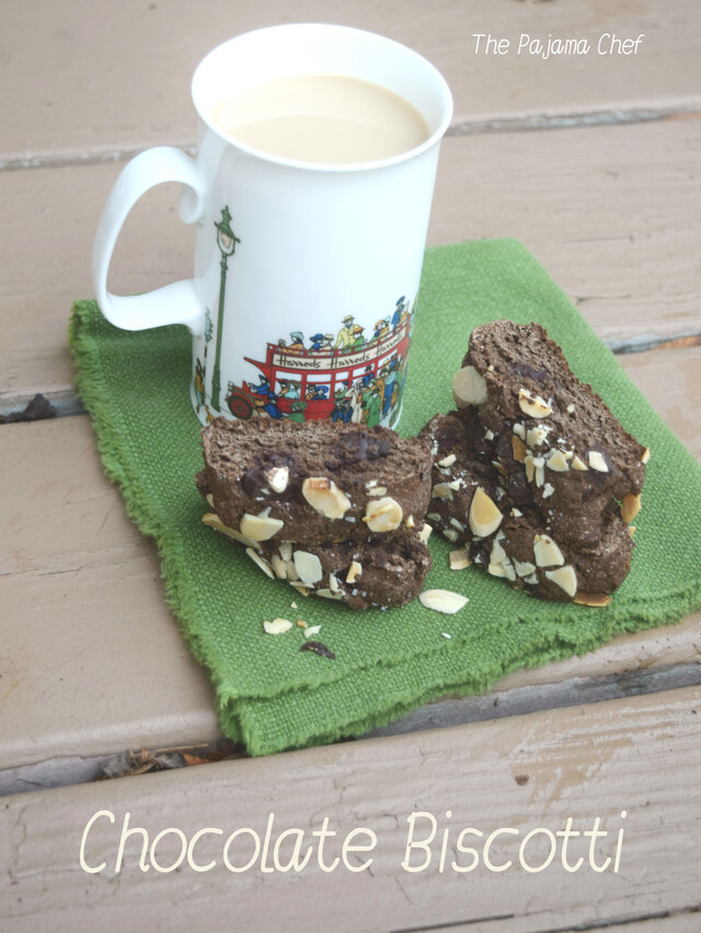 Chocolate Biscotti for #Choctoberfest