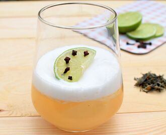 Mocktail: Green tea sour met limoen en gember