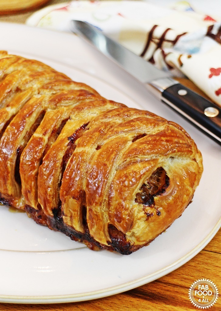 Italian Minced Beef Plait – so quick & easy to prepare!