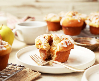 Apple Cinnamon Roll Breakfast Muffins