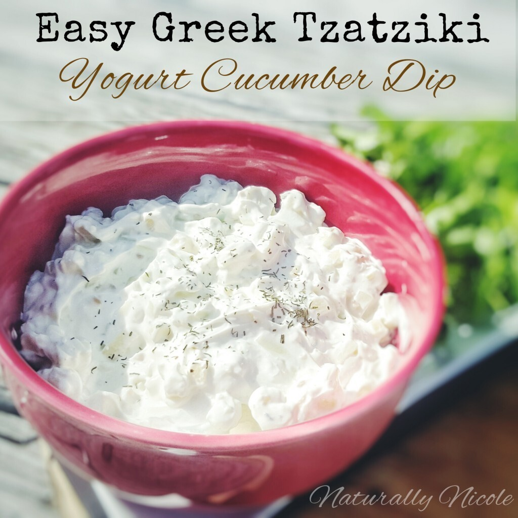 Easy Greek Tzatziki (Yogurt Cucumber Dip)