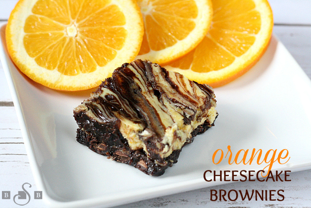 ORANGE CHEESECAKE BROWNIES