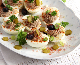 Deviled Eggs with Homemade Liver Pate