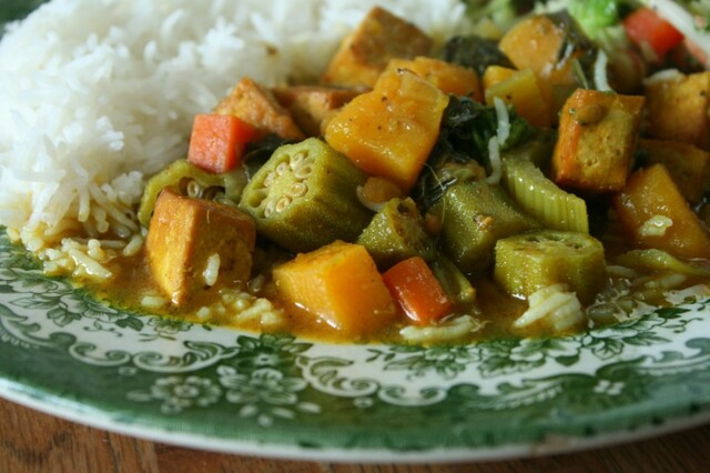 Pumpkin and Tofu Stew (Vegan and Gluten-Free)