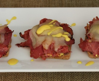 Pastrami on Rye Final Four Appetizer Stack