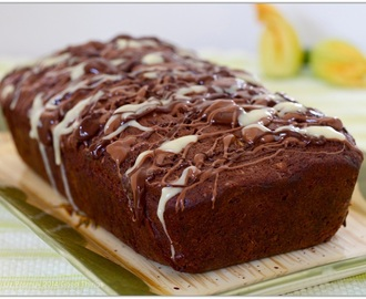 Chocolate walnut zucchini cake
