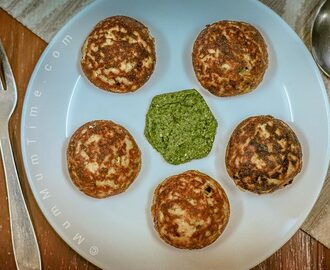 Farali Paneer Aloo Tikki Made in Appam Pan (Cottage Cheese and Potato Patties)