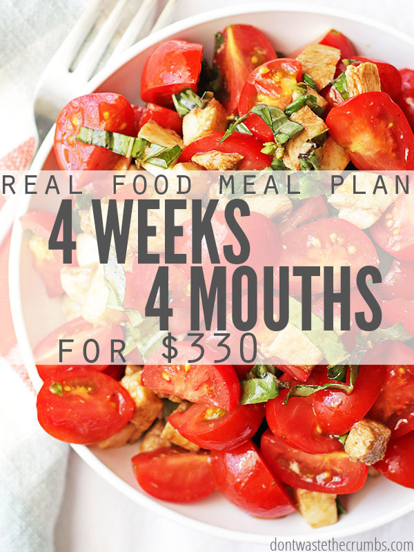 Frugal Real Food Meal Plan: April 2016