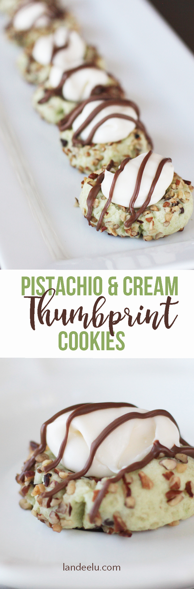 Thumbprint Cookies: Pistachio and Cream