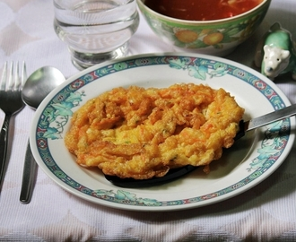 Omelette Puff In Sweet Sour Sauce (Fuyunghai)