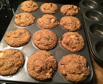 Apple Cinnamon Millet Muffins & Banana Chocolate Chip Muffins