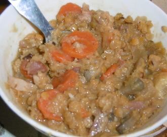 Madhouse recipe : Lentil, bacon & vegetable stew