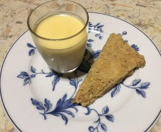 Lemon posset with hazelnut shortbread – Kerry's quick and easy desserts
