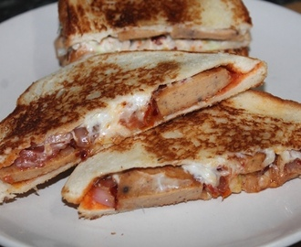 Chicken Salami & Cheese Sandwich Recipe