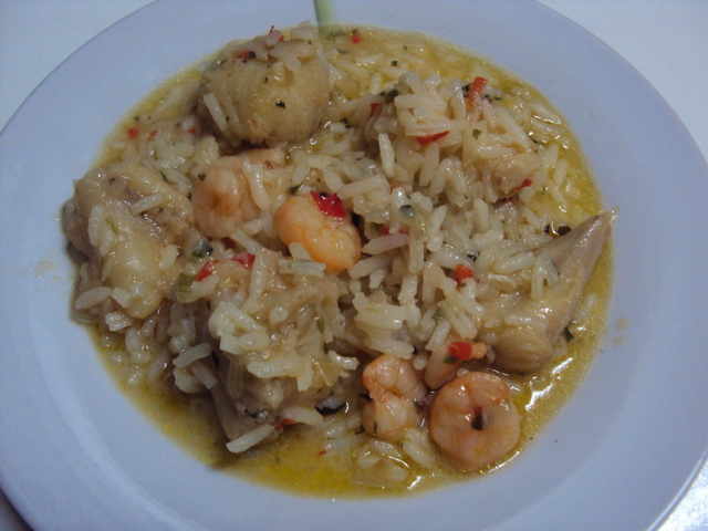 Rice with Monkfish and Shrimp