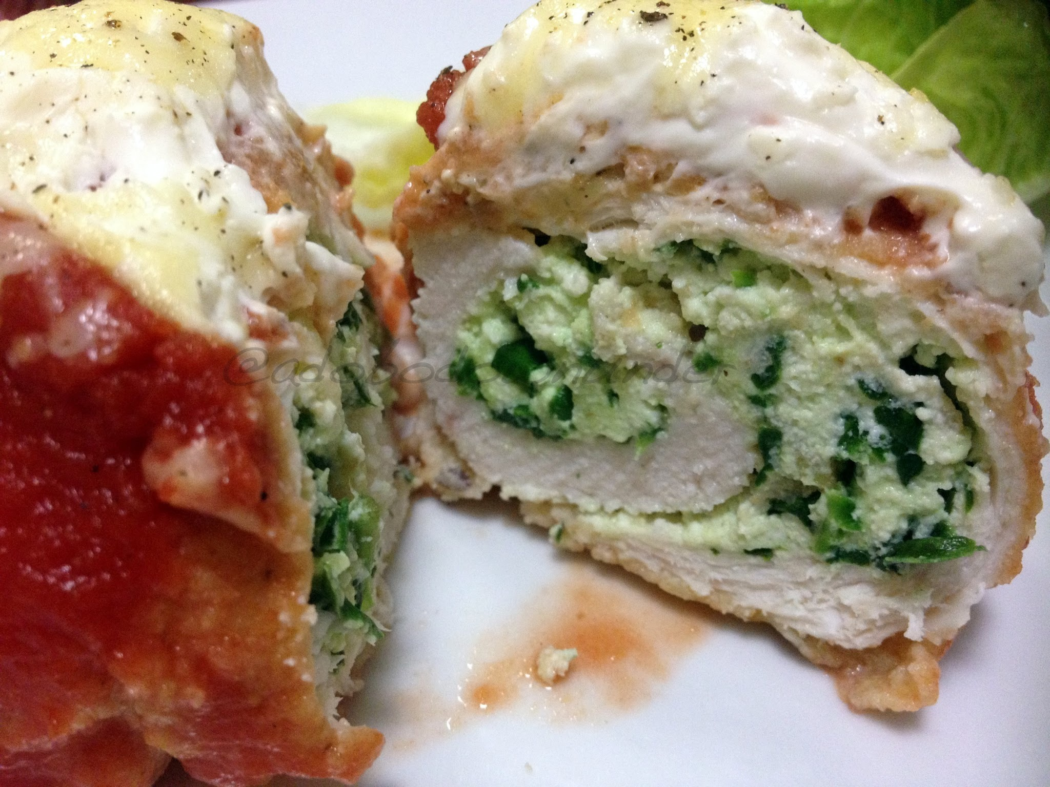 Chicken rollatini with ricotta and spinach