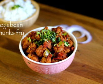 soya chunks fry recipe | meal maker fry recipe | soyabean chunks fry