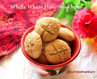 Eggless Whole Wheat Flour Nankhatai