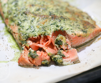 Baked Garlic Parmesan Salmon {Primal, Low-Carb & Keto}
