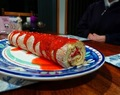 Strawberry and Mascarpone Swiss Roll
