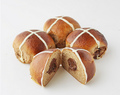Nutella Filled Chocolate Hot Cross Buns