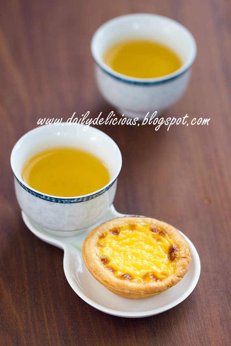 Egg tarts with easy puff pastry