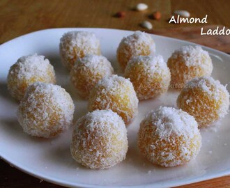 BADAM LADDU / ALMOND LADDU - INDIAN SWEET RECIPES / ALMOND RECIPES