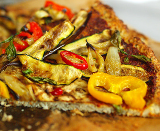 Cauliflower Crust Pizza (gluten free, diary free)