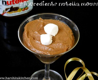 2 Ingredients Eggless Nutella Mousse - Easiest Chocolate Mousse Recipe