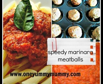 Speedy meatballs in marinara sauce