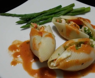 Seafood Stuffed Shells with Vodka Sauce