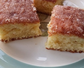 Family favourite lemon drizzle cake