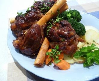 Orange Maple glazed Lamb Shanks