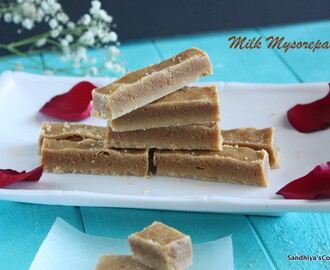 Milk Mysore Pak | Gram flour & Milk powder Fudge | Besan Fudge