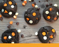 Triple Chocolate Halloween Cookies