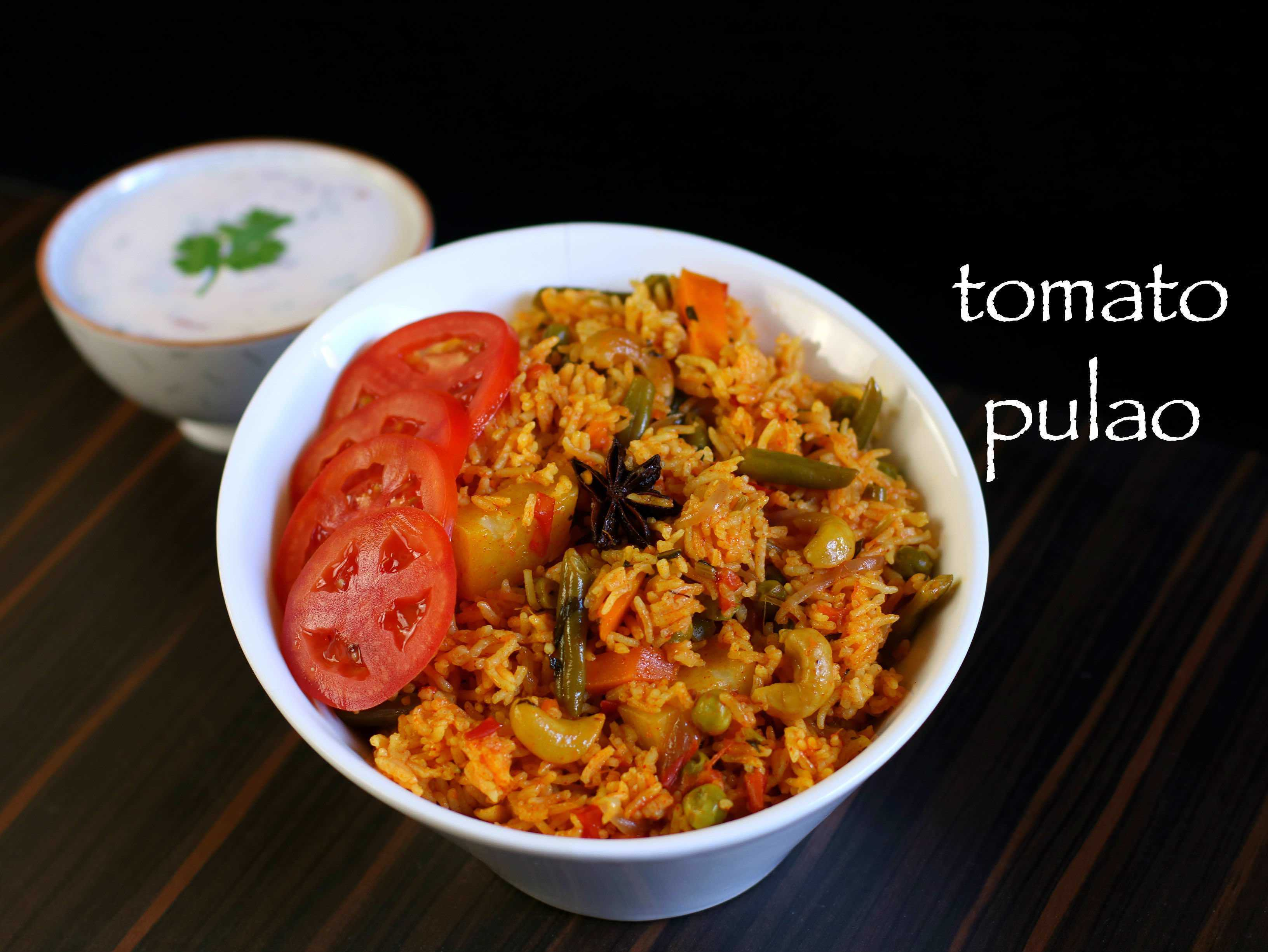 tomato pulao recipe | tomato bath recipe | south indian tomato rice