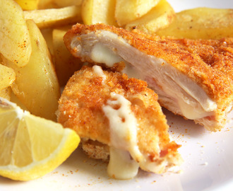 Chicken Schnitzel with Ham and Cheese