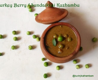 Green Turkey Berry / Pachai Sundaikkai Kuzhambu without Tamarind