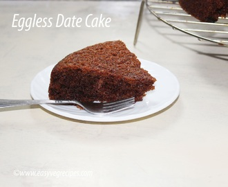 Eggless Date Cake Recipe -- How to make Eggless Date Cake