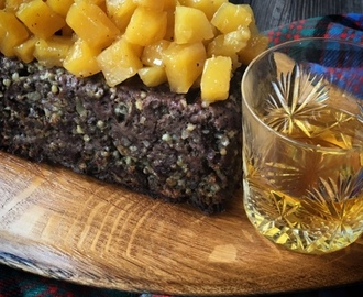 Scotch Beef and Haggis Meatloaf with Whisky Neeps