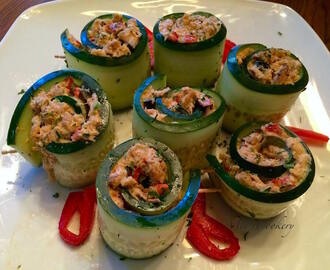 Tuna Cucumber Salad Rolls