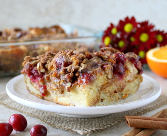 Cranberry Orange French Toast Casserole