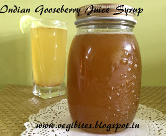 Amla sherbet syrup - Indian Gooseberry Juice Syrup